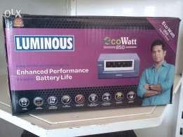 Luminous 850va sinewave ecowatt 2 years warranty  Retail price=6500 offer price =4600 call us : 9686333768 - by Sri Harsha enterprises, Bengaluru