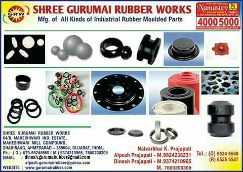 We are manufacturing in all types of rubber products. - by Shree Gurumai Rubber Works, Ahmedabad