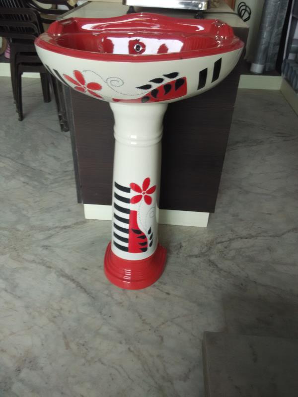 Washbesan with pedestal  - by Agarwal Sanitary Hardware & Tiles, Alwar
