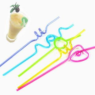 Kids Straws in many shapes and colors. Ideal for birthday parties.  Available at PCN Household - wholesaler for straws in Delhi - by Welcome To PCN Household Products, Delhi