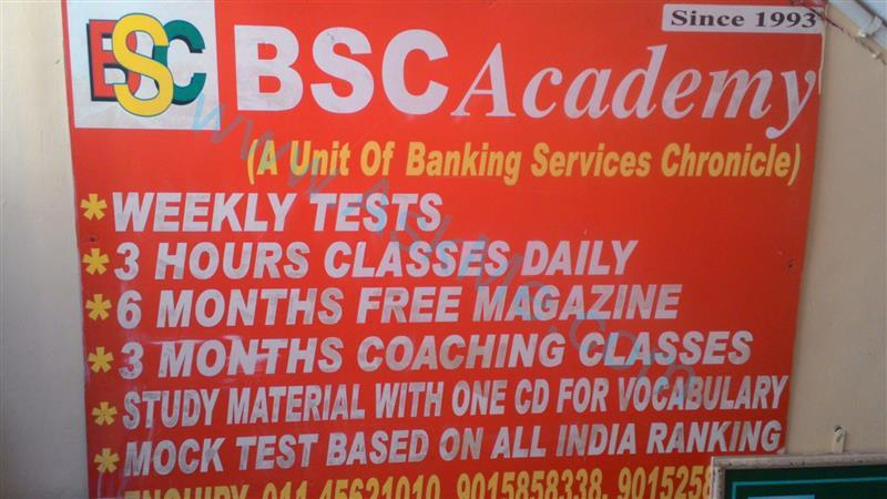 course details for BANK PO/CLERK - by BSC Academy Rajendra Place, Delhi