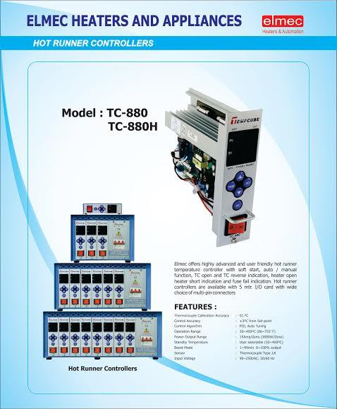 ELMEC HEATERS AND AUTOMATION OFFERS   BEST QUALITY HOT RUNNER CONTROLLER IN CHENNAI INDIA  We offer MC 550 Hot runner controller fully automation with soft start, Heater fail T/C fail indication, Auto manual function, Amps indication ,   We - by Elmec Heaters and automation -  928 222 7071, Chennai