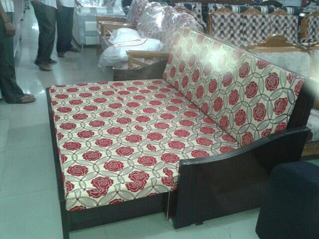 sofa com bed ..takewood frame with company foam offer prce 19500 only - by mahadevi furnitures, opp lingampally bus stand A square building , below sony electronics Bhel X Road