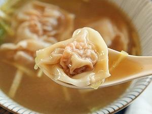 HUNAI WONTON Pastry Wraper Filled with Savory Minced Meat in steaming Thick Soup - by Rice Bowl Chinese & Thai Restaurant, Bhopal