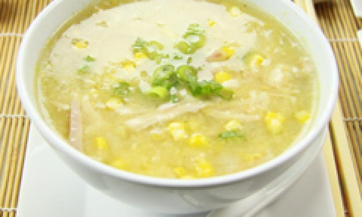 TOMATO / CORN / EGG Sweet Thick Soup - by Rice Bowl Chinese & Thai Restaurant, Bhopal