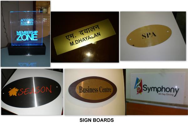 Metal engraving sign boards, Acrylic display boards - by Excel Mart, Chennai