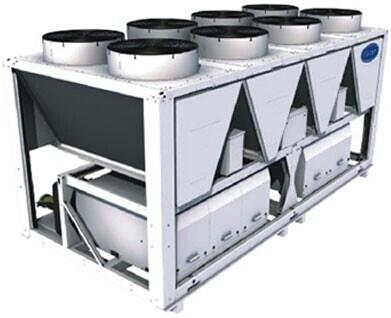 Air Cooled Screw Chiller(30XA0452 ~ 1502)  Key Features:  Environmentally sound refrigerant HFC134a.  New high efficiency semi-hermetic twin screw compressor.  Mutiple refrigerant circuits and multiple compressor design improve part load ef - by UNIMECH SYSTEMS INDIA PVT LTD, Chennai