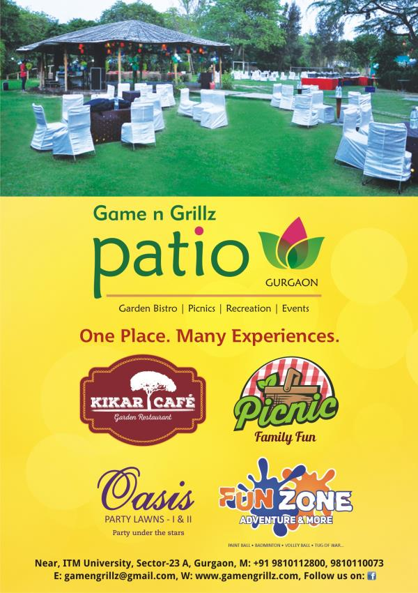 Patio has one of the Best Party Lawn in Gurgaon - by Patio Games n Grillz, Gurgaon