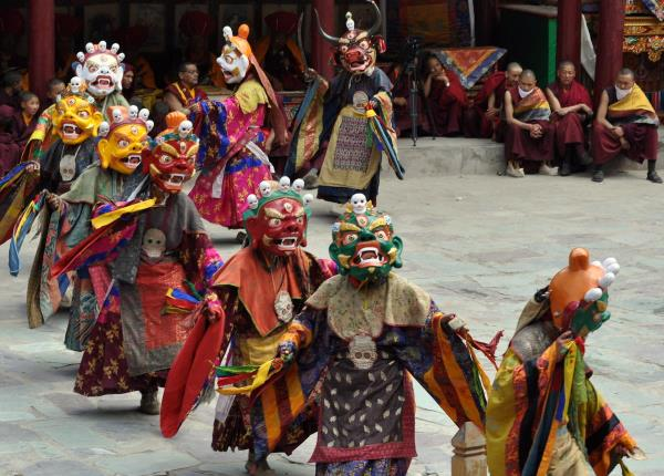 Hemis Festival Ladakh Explore the wealthy culture of Ladakh, throughout the grand festivities of Hemis festival. The festival falls around the tenth day's the Tibetan Lunar month. It's celebrated after every 12 years within the Tibetan year - by Tree Trunk Travel Pvt Ltd, New Delhi
