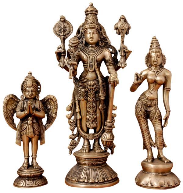 Shree Vishnu with Lakshmi & Garuda  - by PRASIDDH ENTERPRISES, Bangalore