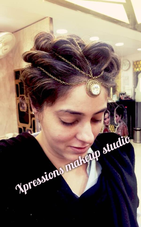 Lovely hairstyle @Xpressions Makeup studio Lajpat Nagar   - by XPRESSIONS, New Delhi