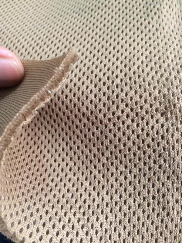 Polyester knitted air mesh/ spacer/ spinach net/ 3D mesh Used in car seat covers, shoes, bags, gloves, helmets, chair covers, etc Thickness 2.5mm Weight 110GSM to 245GSM - by Chaitanya Impexx @ +91 9811233883, Delhi