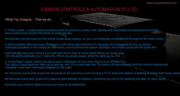 Lot of Possibilities... - by Jomson Controls & Automation (P)Ltd, Ernakulam