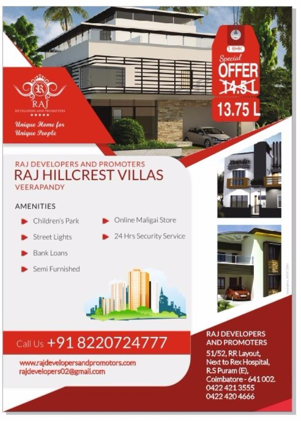 1bhk house at veerapandi , coimbatore - by Raj Developers and Promoters, Bangalore Urban