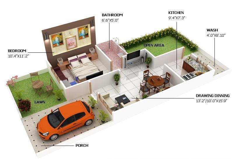 aerial view of 1bhk - by Raj Developers and Promoters, Krishnagiri