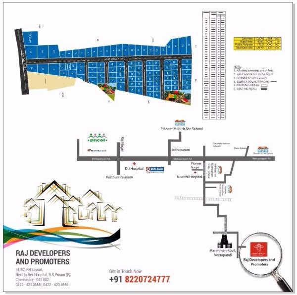 key plan - by Raj Developers and Promoters, Krishnagiri