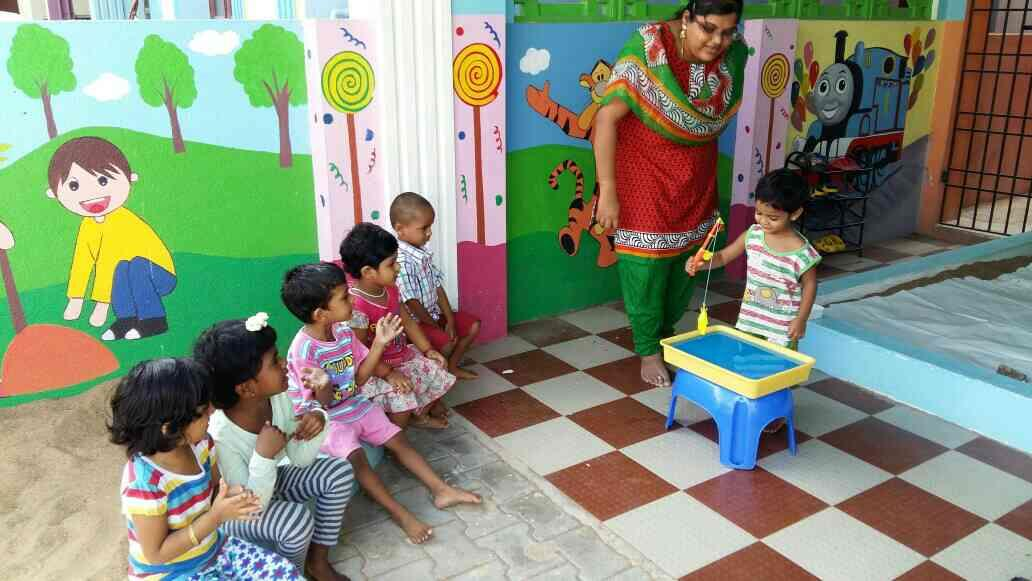 outdoor sensory activity - by sky bloo playhouse for kids, chennai