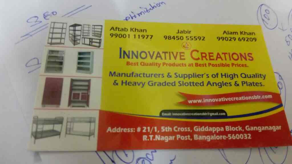 slotted angel and plates manufacturer - by Innovative Creations, Bangalore