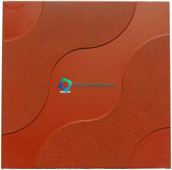"""Rubber mould's for Designer floor Tile and interlocking Tiles Plastic Moulds now available in glossy finish.  buy now high quality """"Concrete Tiles making machines"""" and """"Rubber Moulds for cement Tiles. - by interlocking paver block making machine, Delhi"""