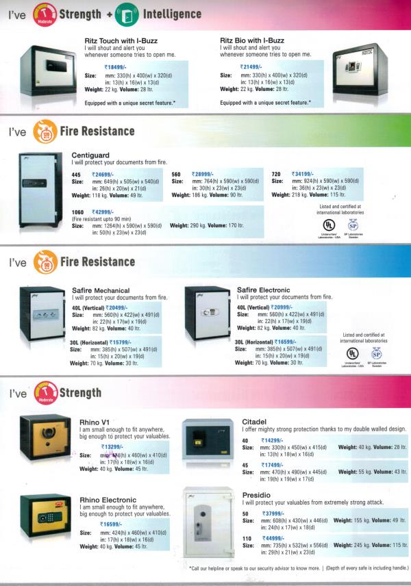 HOME SAFES - by Bee Kay Protection Systems, Jammu