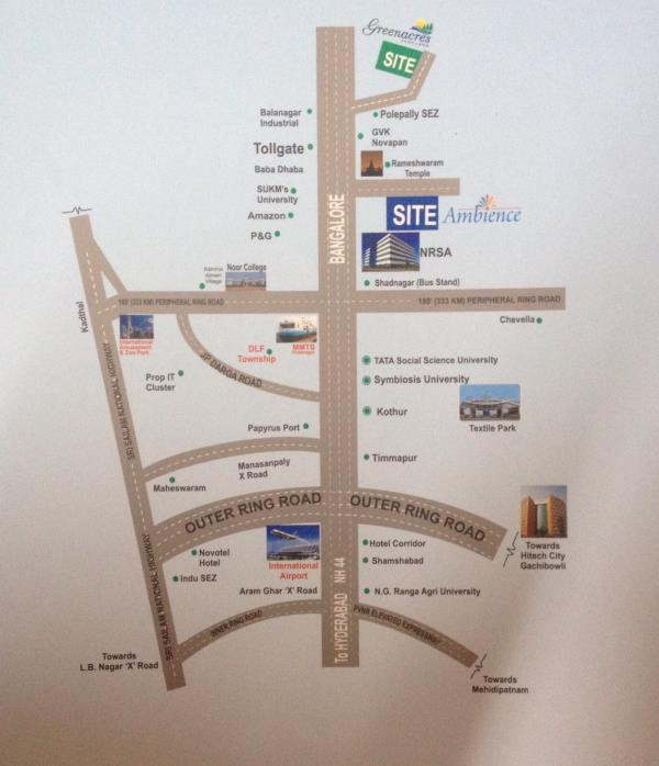 location map - by Space Vision Group, Hyderabad