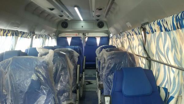 we are providing Tempo Traveller on Rent in Pune. with ac and recliner seats, multi channel lcd coach for comfotable and luxury holidays experience. - by Amruta Tours And Travels 9881132288, Pune