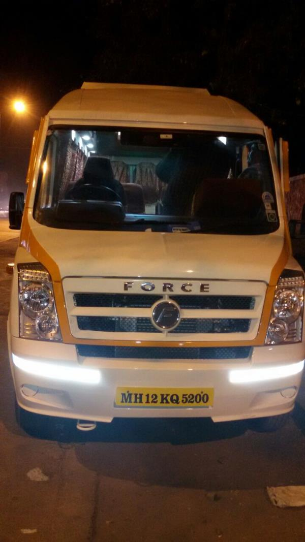 Tempo Traveller on Hire in Pune. full air conditioned Tempo Traveller in pune with recliners seat and multi channel lcd all seats option available 13, 15, 17, 19, 21, 30, 35, 40, 45, 50, 55 seater Tempo Traveller on Rent in Pune. - by Amruta Tours And Travels 9881132288, Pune