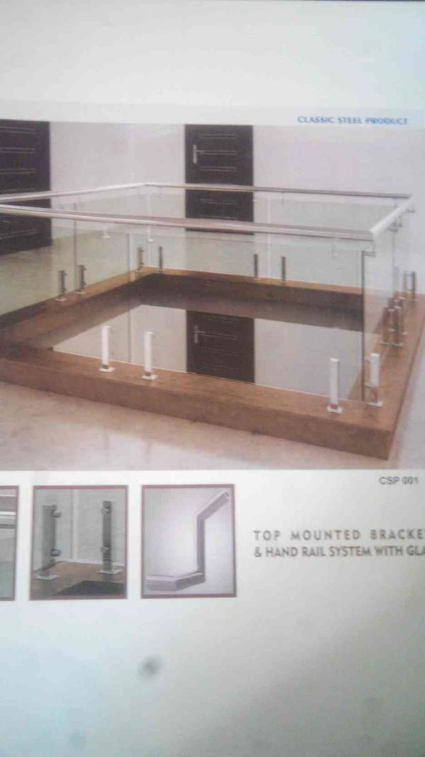 Top Mounted Railing Manufacturers in Rajkot - by Classic Steel Product, Rajkot