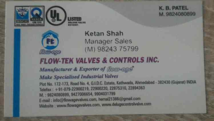 plzcontact for any kind and categories of valves  - by Flow-tek Valves & Controls Inc., Ahmedabad