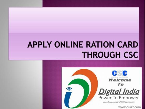 RATION CARD APPLY HERE........... - by shine customer solutions, auraiya