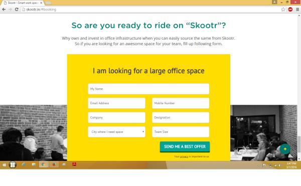 Skootr - Get paid for your unutilized office Spaces. Office Leasing Solutions Providers at Sohna Road Gurgaon.    Register your unutilized office spaces More Info http://skootr.in/#booking   - by Great spaces for office seekers & start-ups reasonable Cost, Gurgaon