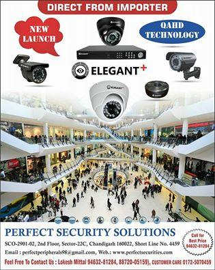 All types of Elegant CCTV Camera in Chandigarh - by Perfect Security Solutions, Chandigarh