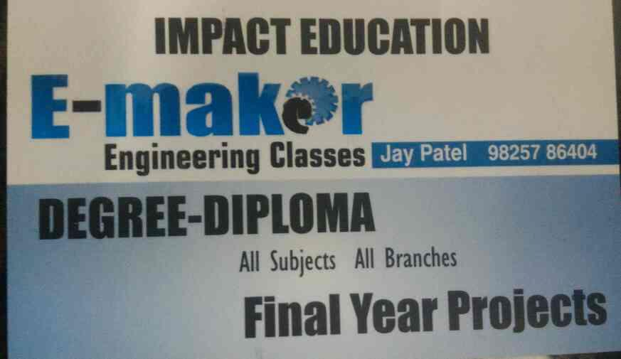 we are one of the best coaching institute for engineering students in ahmedabad gujarat India  - by E-maker Engineering Classes, Ahmedabad