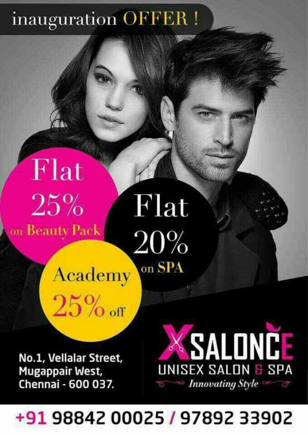 best salon in chennai..  spa, hair style, academy   - by Xsalonce, Chennai