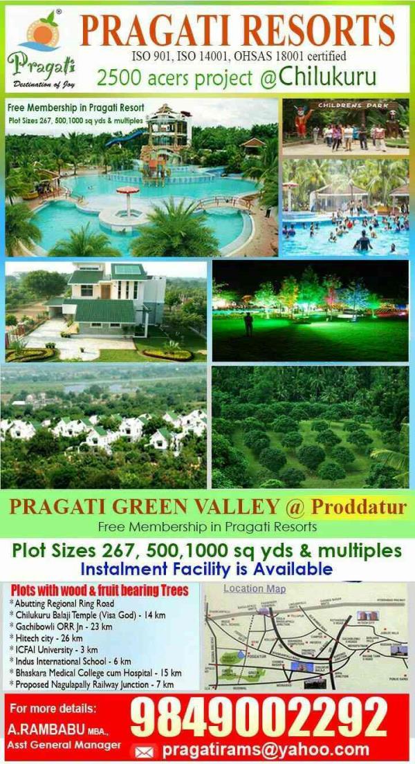 Pragati Green Meadows and Resorts  The Best Resort in Hyderabad, Best real estate company, plots in chilkur balaji temple, plots for sale, plots selling agents, plots selling consultants, plots consultant, venture in chilkur balaji temple,  - by Pragati Resort , Hyderabad
