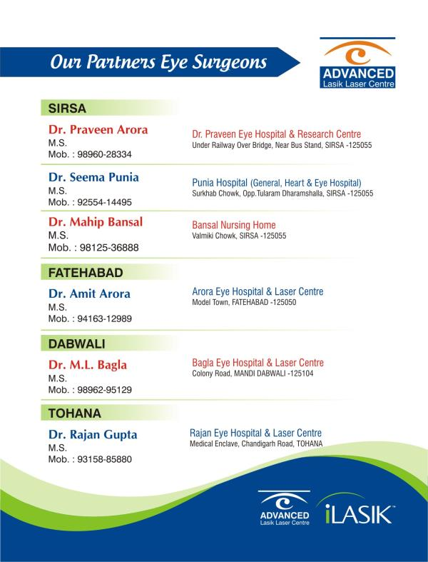 Our Eye Surgeons - by Advanced Lasik Laser Centre, Sirsa