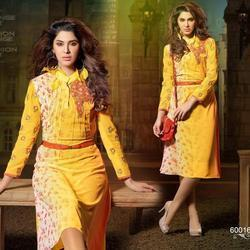 Chiffon Kurti in Chandigarh  Chiffon Kurti options offered can be made available in different finish designs to match up with specific wear demands of customers.   Features:   Designer wear choices Coming in beautiful and intricate mix of d - by Sunita Boutique, Chandigarh
