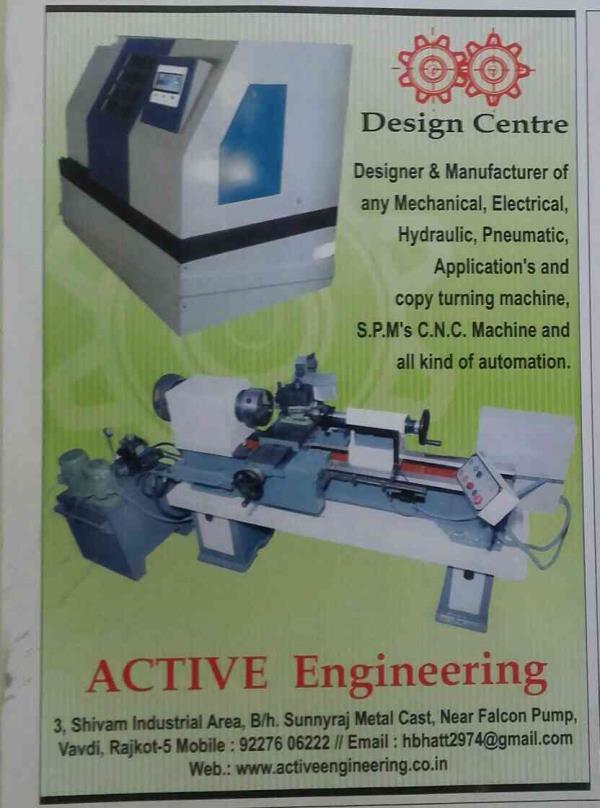 cnc turning machine & Copy turning machine manufacturers in rajkot - by Active Engineering, Rajkot