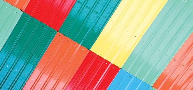 "Our vendor base is very strong in the market and thus we make available a wide range of ""Color Coated Roofing Sheets"" to our clients. - by Visakha Roofing Industries 