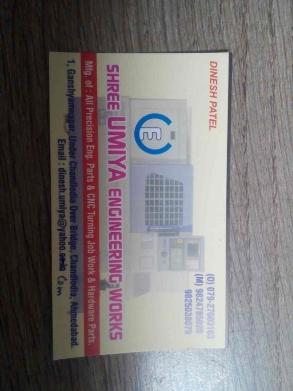 we are leading in CNC and VMC all types of job work  - by Umiya Engineering, Ahmedabad
