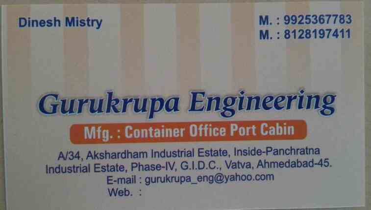 we are manufacturing wide range of portable cabins in customized design   contact for porta cabins in ahmedabad gujarat India  - by Gurukrupa  Engineering , Ahmedabad