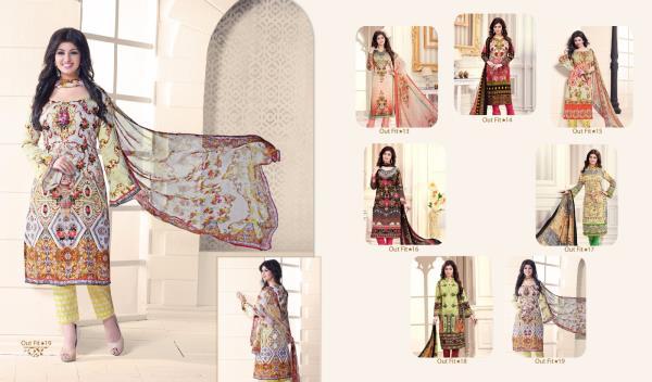 Top - pure cotton cambric print Bottom - semilon Duptta - chiffon printed - by Rajendra Textile, Delhi