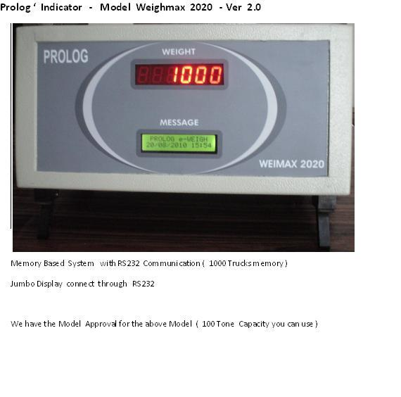 TRUCK WEIGHING  SYSTEMS  , TOLL WEIGHING SYSTEM S - by Prolog Technologies, Chennai