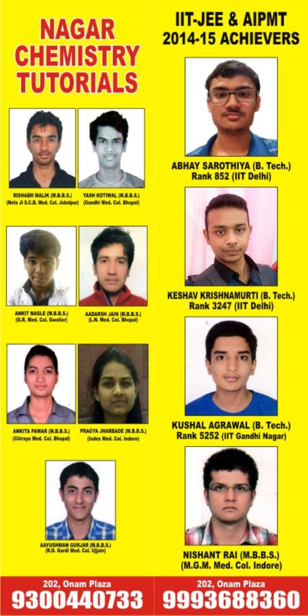 Top IIT-JEE CHEMISTRY CLASS - by Nagar Chemistry Tutorials, Indore