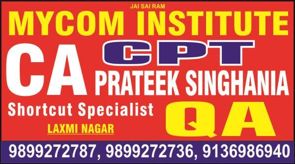 best ca team in laxmi nagar. best cpt team in laxmi nagar. mycom institute are providing best ca team in laxmi nagar. - by mycom institute, laxmi nagar