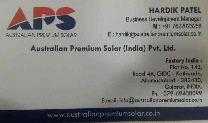 we have wide range of products in solar panel and provide you best quality products and services in india  - by Australian Premium Solar , Ahmedabad