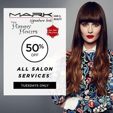 Enjoy Happy Hours Exclusively @Best Premier Unisex Salon #MarkSalon. - by Mark Signature Look, Visakhapatnam
