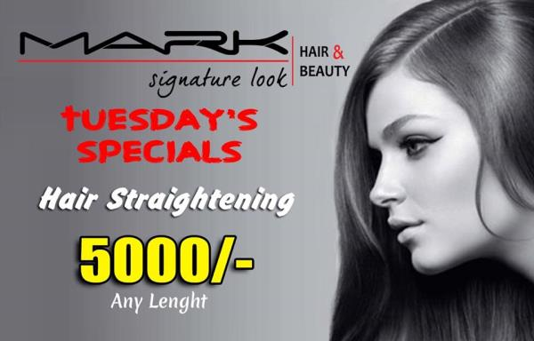 Wow! #HairStraightening Exciting Offer only @MarkSalon  on Tuesdays Hurry Up! - by Mark Signature Look, Visakhapatnam