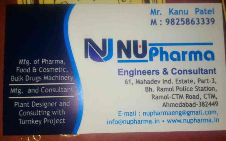 plz contact for any kind of packaging machinery in india  - by NU Pharma Engineers & Consultant , Ahmedabad
