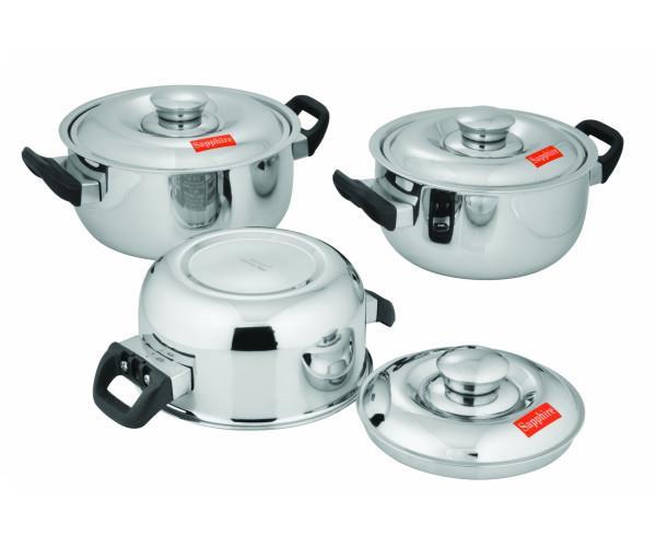 Gourmet 3 Pcs. Set Royal Silver Look Combo @BestKitchenwareProductsinDelhi With Home Delivery Option. http://www.onlinesapphire.com/gourmet-3-pcs-set-royal-combo-silver-look?filter_name=combo - by Sapphire Kitchenware | Kitchenware Products Delhi, Delhi
